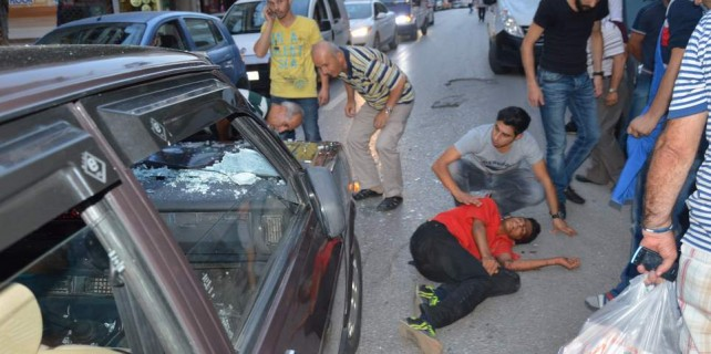 Bisikletle son sürat otomobile çarptı