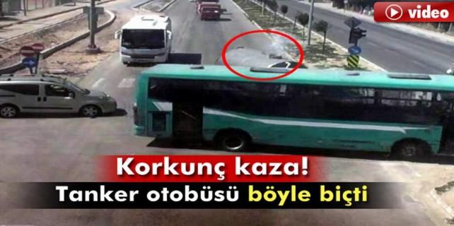 Bursa'da korkunç kaza kameraya yansıdı