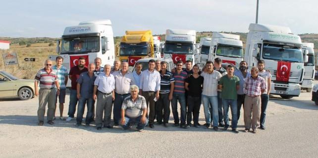 TIR konvoyu ile terörü protesto ettiler
