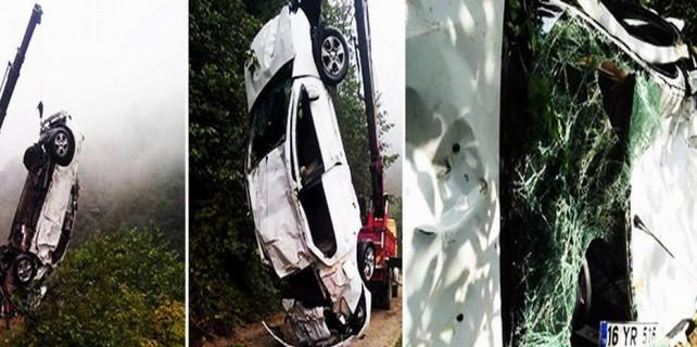 Bursalı çifti ölüm ayırdı...Feci kazada 2 can gitti