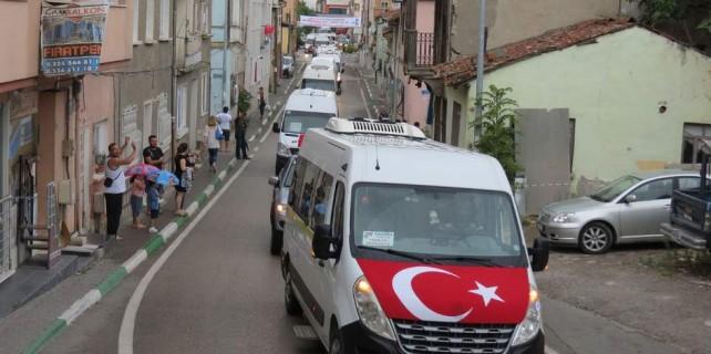 Bursa'da teröre lanet konvoyu