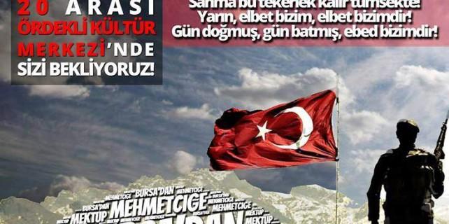 Bursa'dan Mehmetçiğe mektup
