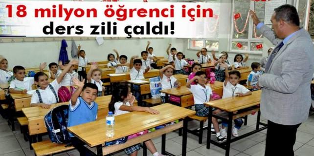 18 milyon öğrenci için dersbaşı
