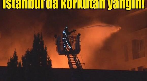 Kot imalathanesinde büyük yangın