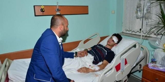 Yaralı taraftara Bursaspor sahip çıktı