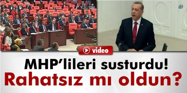 MHP'lileri susturdu: Rahatsız mı oldun
