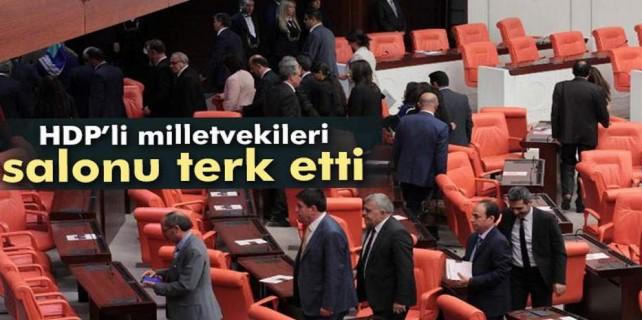 HDPliler salonu terk etti
