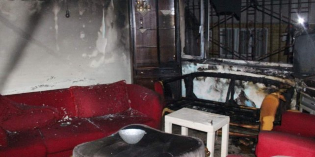 Mühürlenen fuhuş evi kundaklandı...
