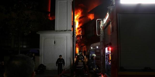 Bursa Kapalıçarşı'da büyük yangın