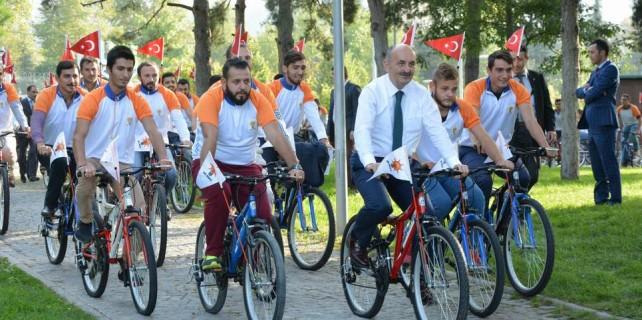 Bisikletli seçim çalışması