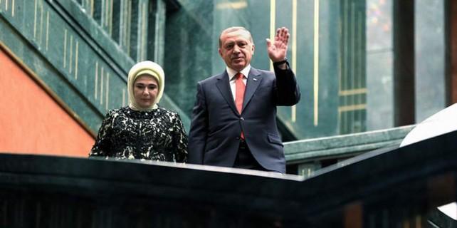 Erdoğan'a resepsiyonda sürpriz