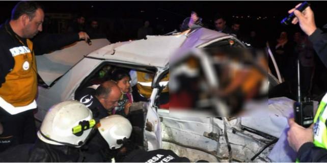 Bursa'da yürek burkan kaza...