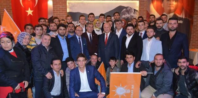 Mudanya'da AK Parti'ye büyük katılım