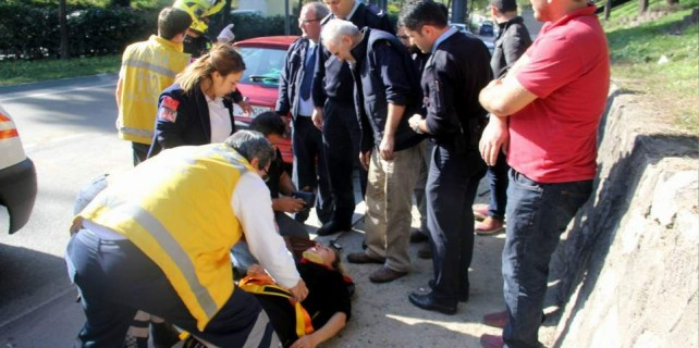 Kadın sürücü aracıyla takla attı ölümden döndü