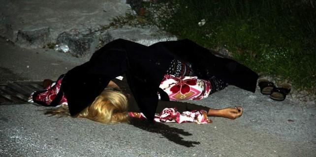Sokak ortasında acı ölüm