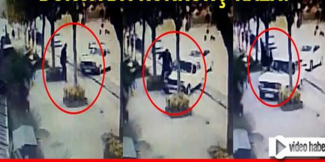 FSM Bulvarı'nda korkunç kaza kamerada...