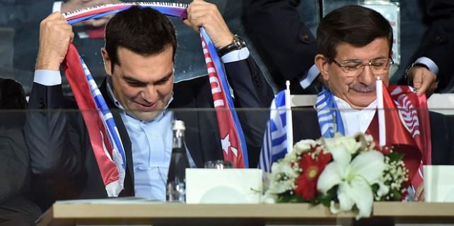 Maçı birlikte izlediler...
