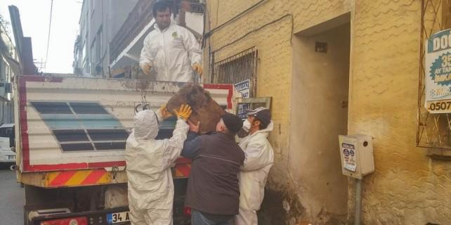 Bursa'da inanılmaz olay...Çöpleri için kendini astı