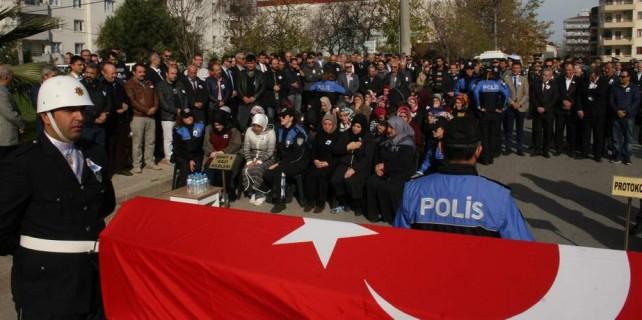 Bursa'da şehit polise hazin veda...