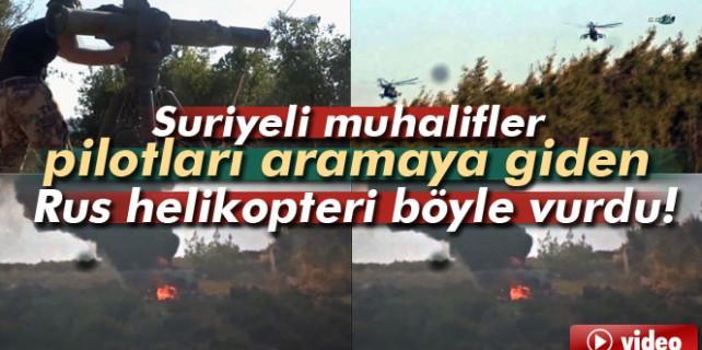 Pilotları almaya giden helikopter böyle vuruldu...
