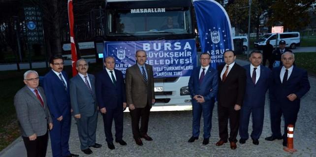 Bursa'da Bayırbucak Türkmenlerine yardım eli