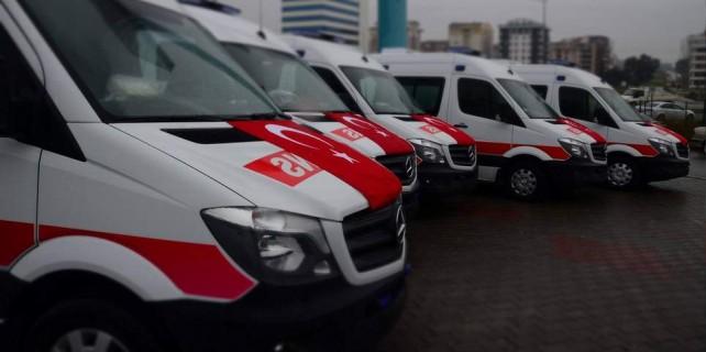 Bursa'ya 5 ambulans