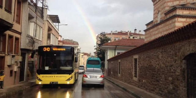 Gökkuşağı Bursa'yı büyüledi...