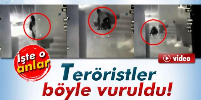 Teröristler böyle vuruldu...
