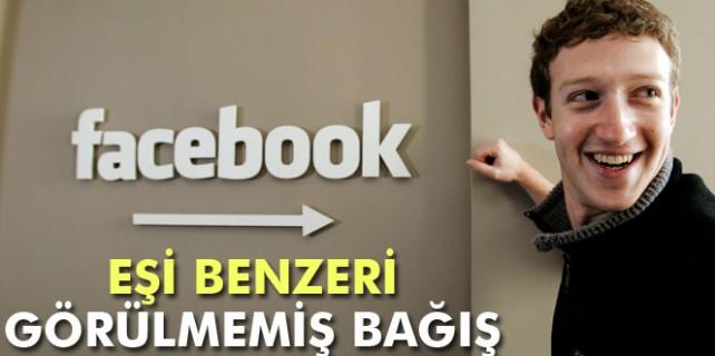 Facebook'tan yok böyle bir bağış...