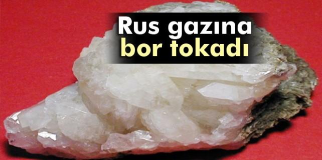 Rus gazına bor tokadı
