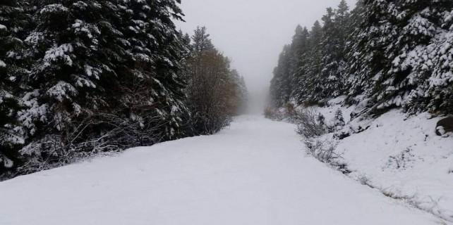 Uludağ'a yoğun kar geliyor...