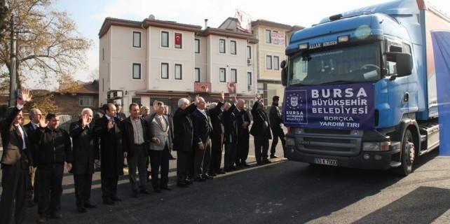 Bursa'dan 1310 kilometre öteye yardım eli