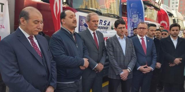 Bursa'dan Bayırbucak Türkleri'ne 7 TIR yardım