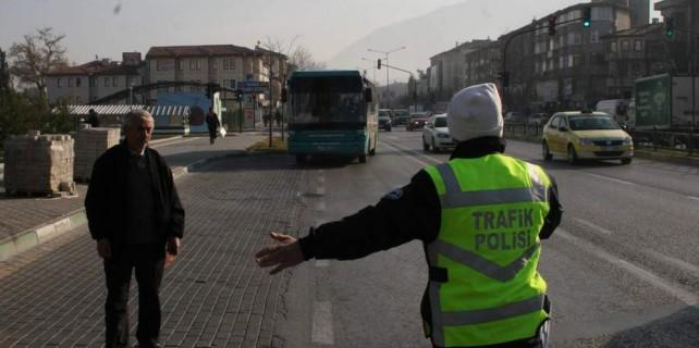 Bursa'da halk otobüslerine sıkı denetim...