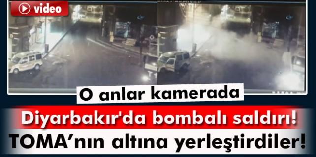 Bombalı saldırı anı kamerada...