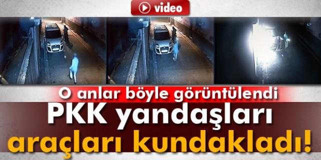 PKK'lılar araçları böyle kundakladı
