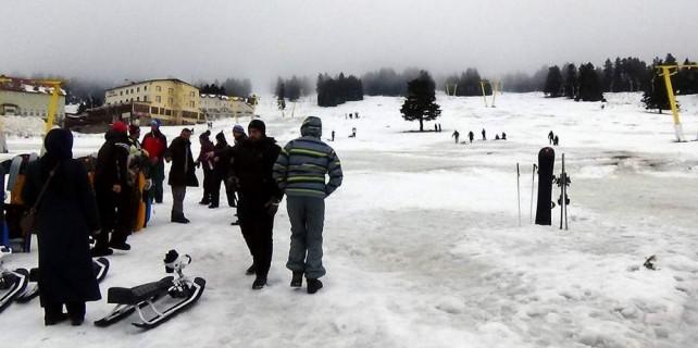 Lodos karları eritti...Turizmciler kara kara düşünüyor