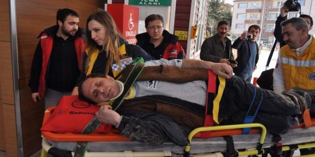 İş kazası...Ağır yaralandı