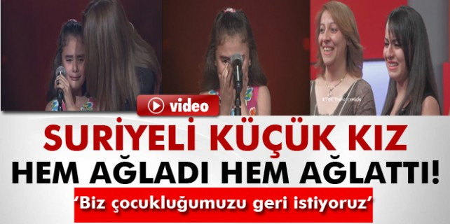 Suriyeli kız hem ağladı hem ağlattı...