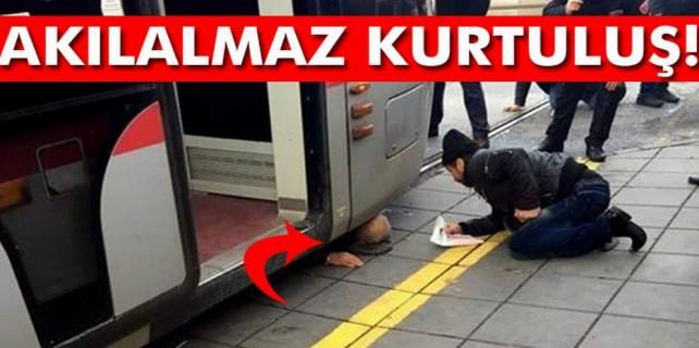 Metro altında ölümle burun buruna geldi...