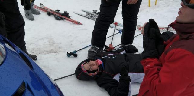 Uludağ'da kayak kazası...
