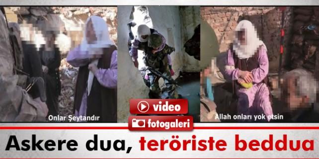 Askere dua teröriste beddua