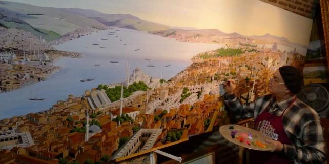 Bursalı ressam Cumhurbaşkanlığı Sarayı'nda...