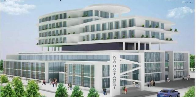 İnşaatı hızla yükseliyor...Bursa'nın yeni sağlık merkezi olacak