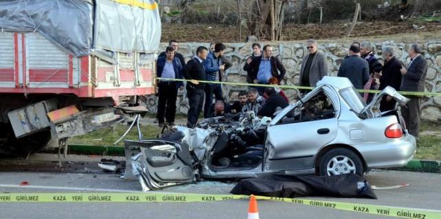 Bursa'da şok eden kaza...