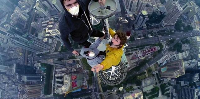 Çılgın adamlar...384 metrede selfie yaptılar