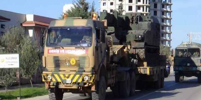 Suriye sınırına büyük sevkiyat