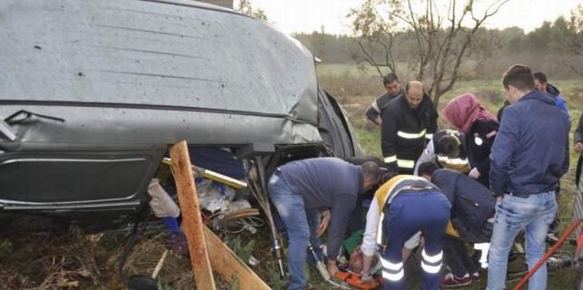Bursa'da acı kaza...Şarampolde can pazarı yaşandı