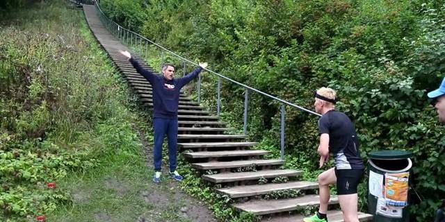 426 merdiveni 64 saniyede çıktı!