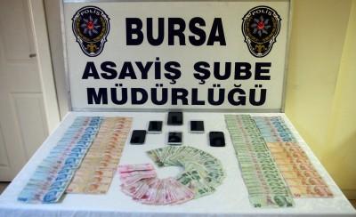 BURSA'DA YASA DIŞI BAHİS OYNATAN 6 KİŞİ GÖZALTINA ALINDI